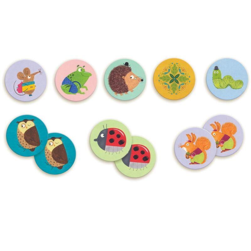 Memóriajáték - Állatok, Djeco társasjáték 3 éves kortól