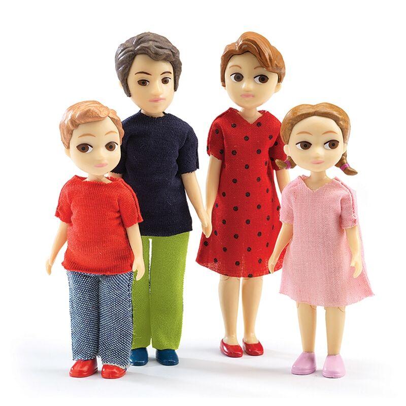 A család, figurák a babaházba, Djeco szerepjáték