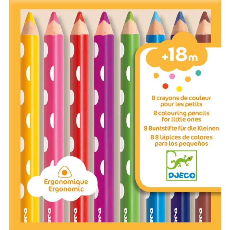 8 színes ceruza a legkisebbeknek - 8 colouring pencils for little ones, Djeco Kreatív
