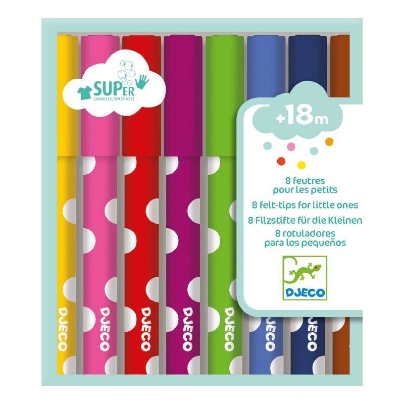 Kimosható filctoll - 8 felt-tips for little ones, Djeco Kreatív