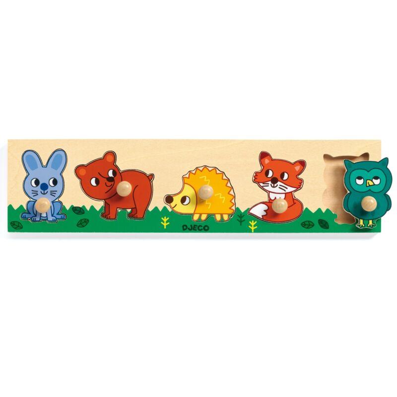 Formaillesztő - Erdő lakók, Djeco formaberakó 1-2 éves korig