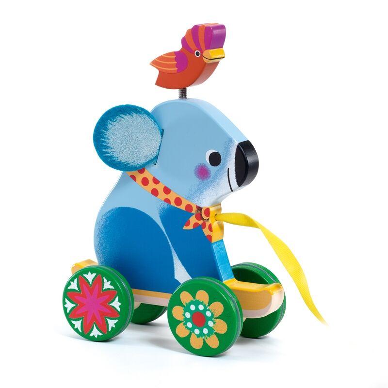 Húzható játék - Otto koala - Djeco bébijáték 1,5-3 éves korig