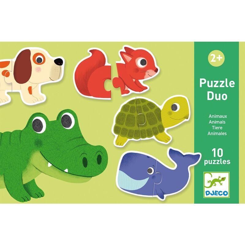 Párosító puzzle Állatok, Djeco 2 db-os kirakó (2-4 év)