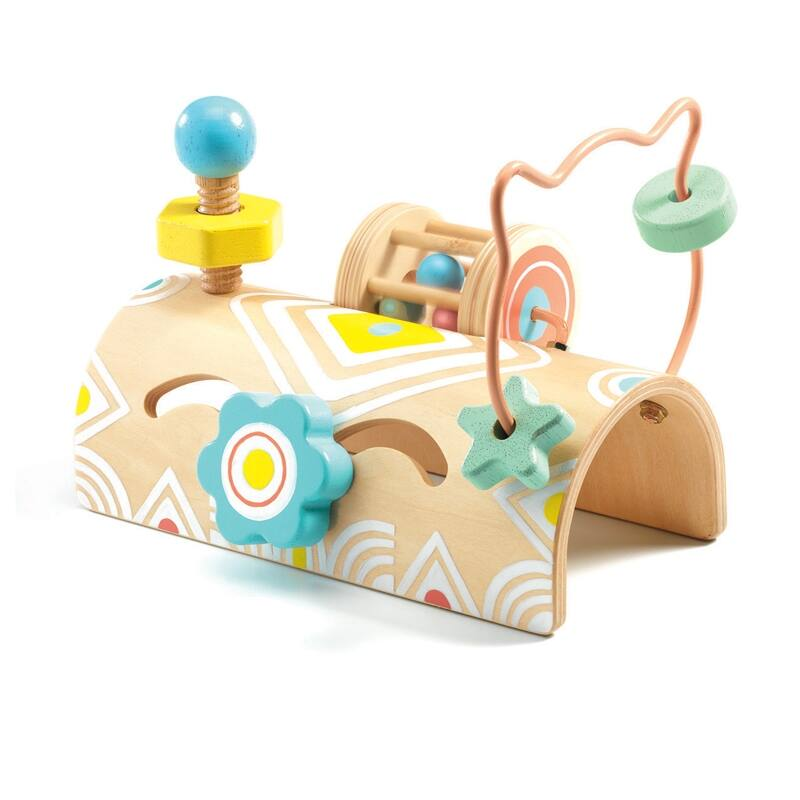 BabyTabli Tekergő, Djeco felfedező játék, bébijáték, 12 hónapos kortól