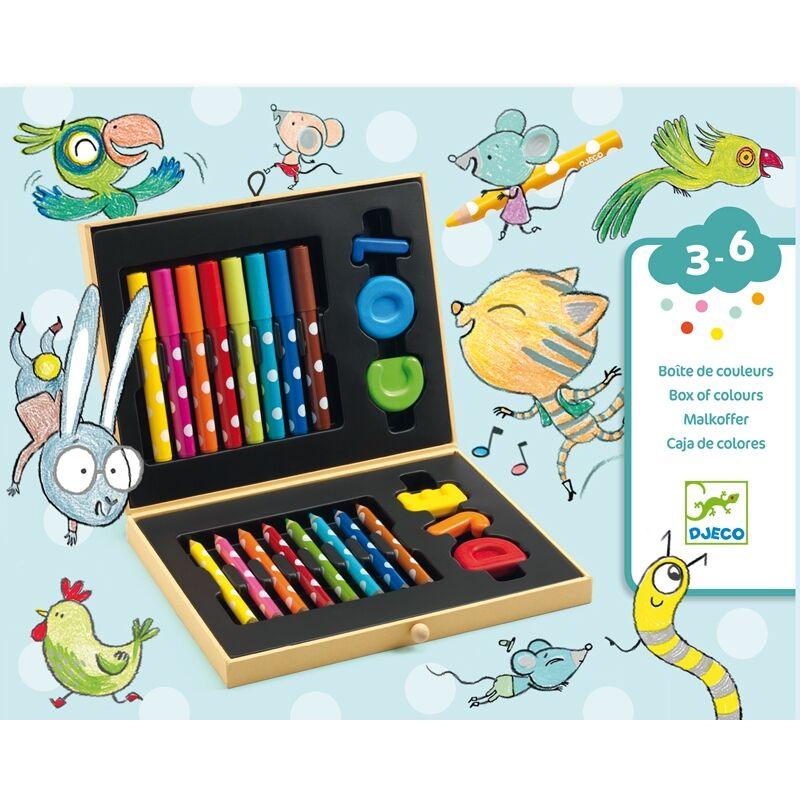 Kicsik színes készlete - Box of colours for toddlers, Djeco Kreatív eszköz