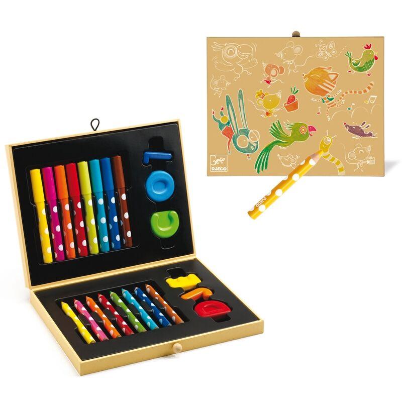 Kicsik színes készlete - Box of colours for toddlers, Djeco Kreatív eszköz 3-6 éves korig