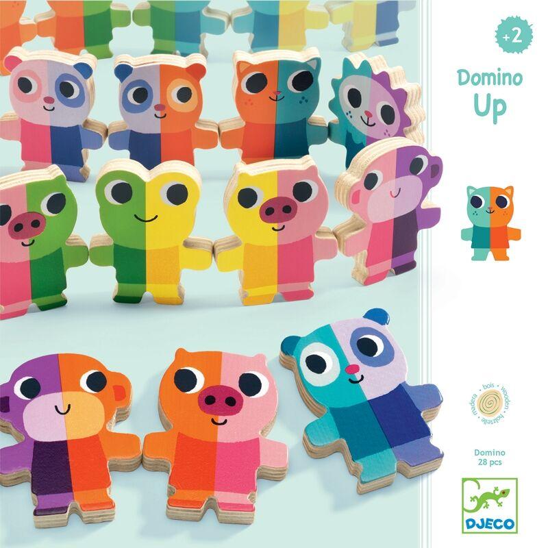 Domino játék, Domino Up, Djeco fa logikai játék, DJ1641, 2 éves kortól