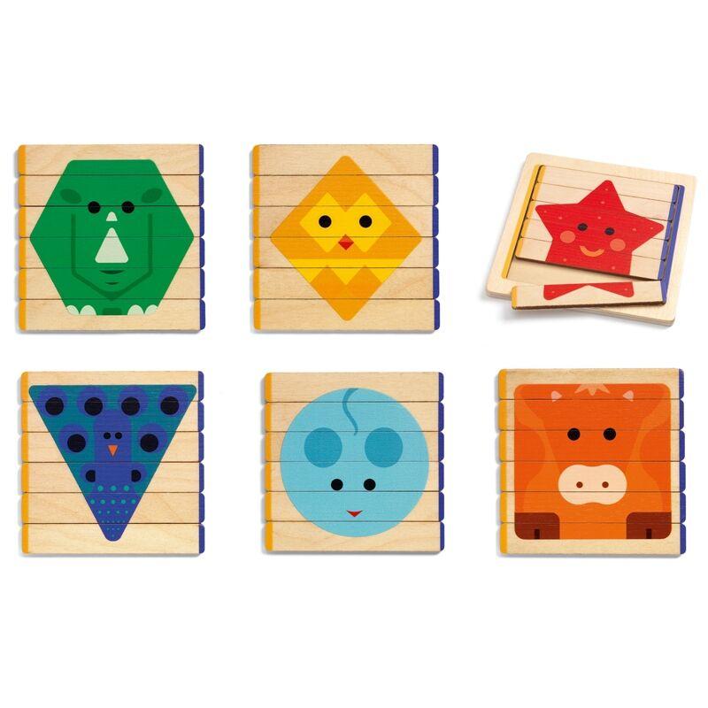 Puzzles Basic, Djeco kirakó fából (2-4 év)