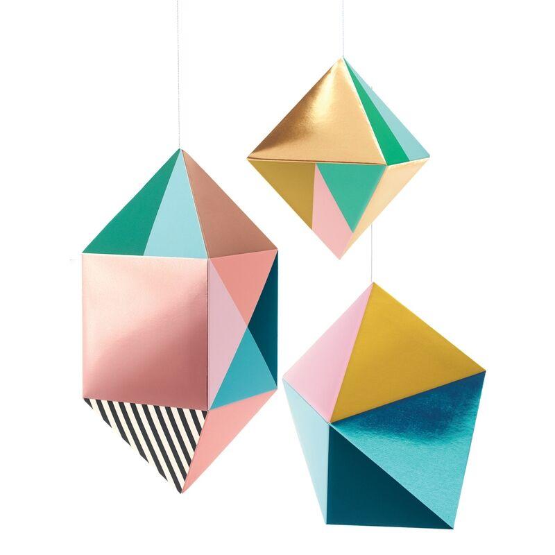 3Ds függődíszek - Fémes formák