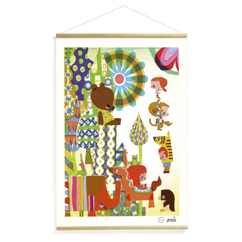 Falikép - Színes történet , Djeco dekoráció 0-99 éves korig