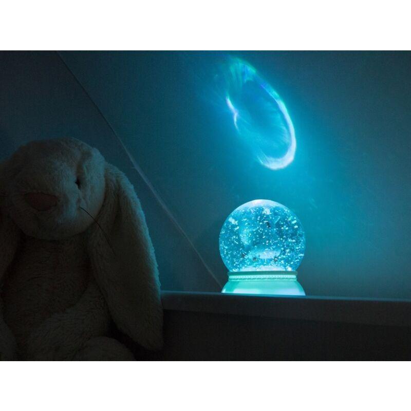 Jelzőfény - Nyuszis csillámgömb, Djeco dekoráció 1 éves kortól