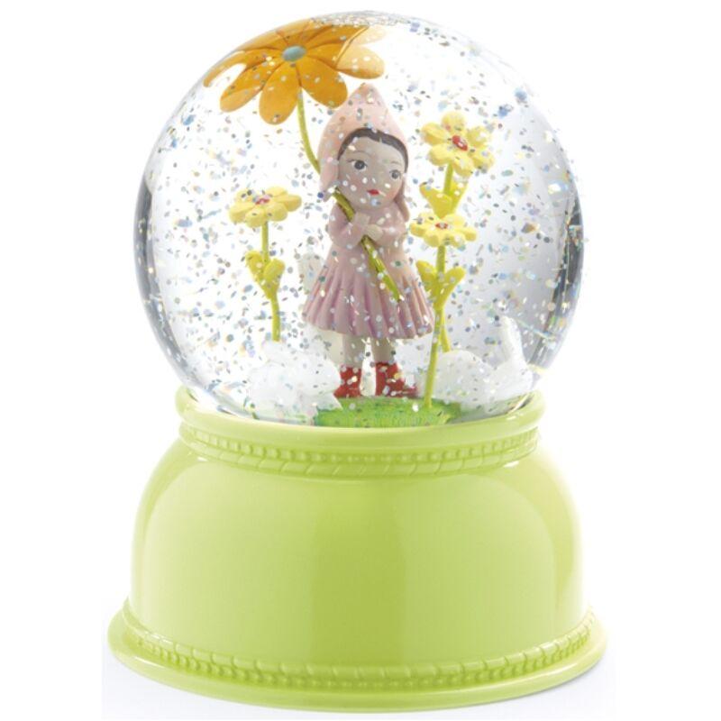 Jelzőfény - Kislányos csillámgömb, Djeco dekoráció 1 éves kortól