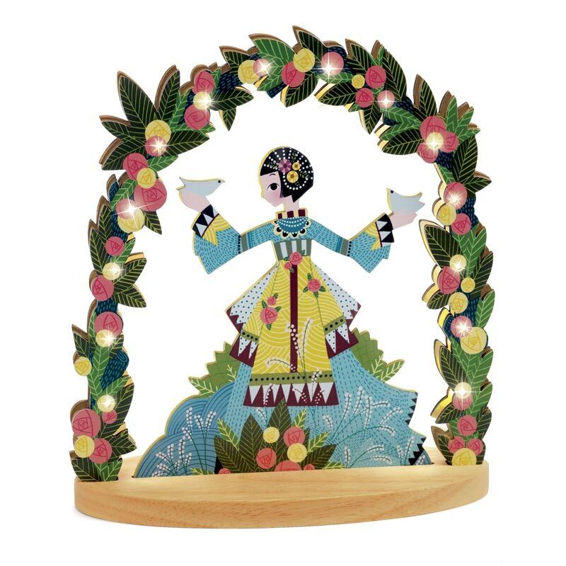 Hangulatlámpa, jelzőfény - Miss Doves, Djeco dekoráció 3 éves kortól