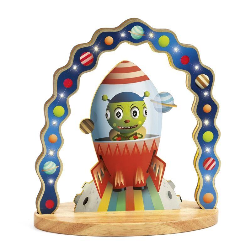 Hangulatlámpa, jelzőfény - Zinzin úr, Djeco dekoráció 3 éves kortól