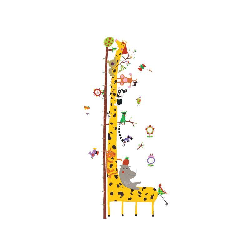 Magasságmérő falmatrica - Amazonas állatai, Djeco dekoráció 0-8 éves korig