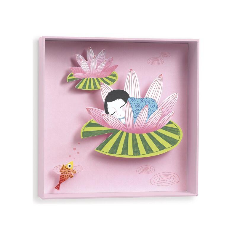 Falikép - Tavirózsa kisasszony, Djeco dekoráció 0-12 éves korig