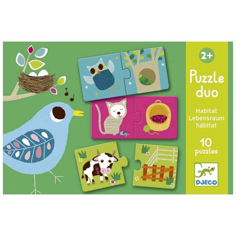 Élőhely - 20 darab párosító puzzle