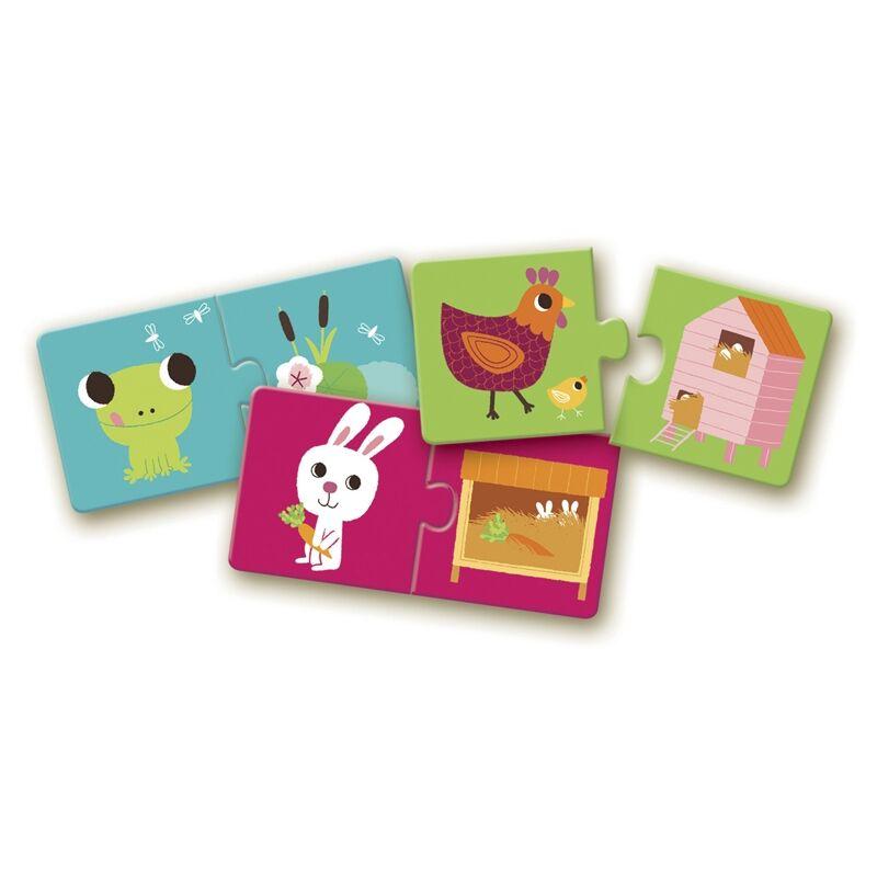 Élőhely - 20 darab párosító puzzle 2-4 éves korig, Djeco