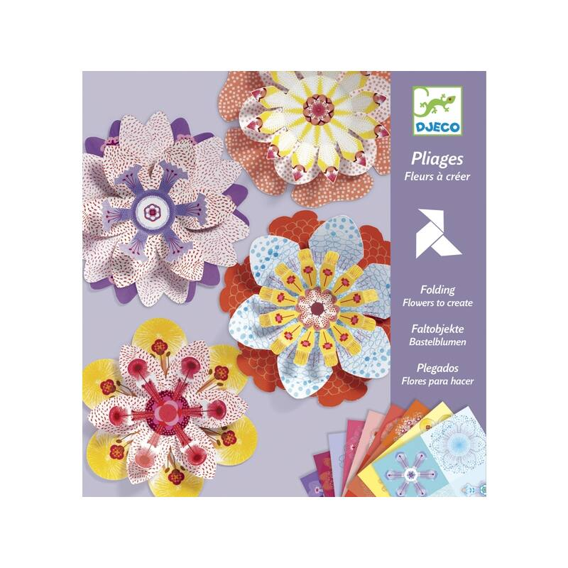 Hajtogató Papírvirág készítés, Djeco Origami