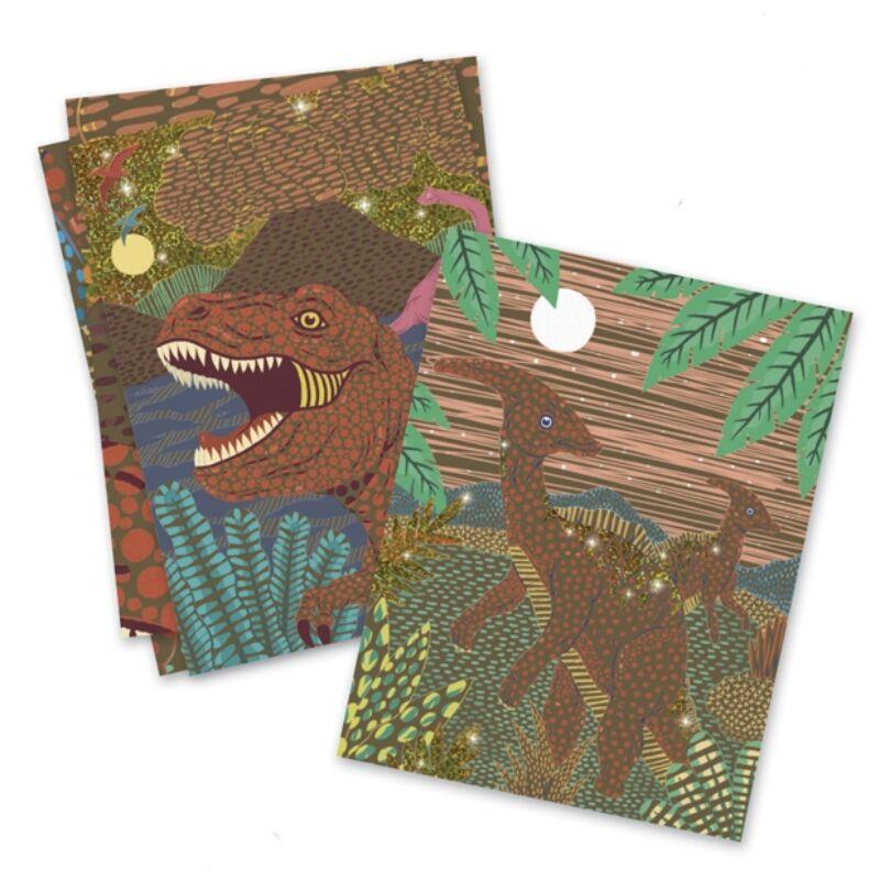 Karckép technika - Dinoszauruszok - Dinosaurs, Djeco Kreatív készlet