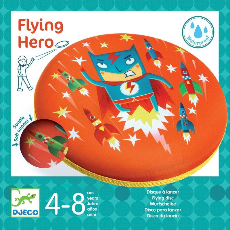 Flying Hero, Djeco rugalmas frizbi, mozgásfejlesztő játék
