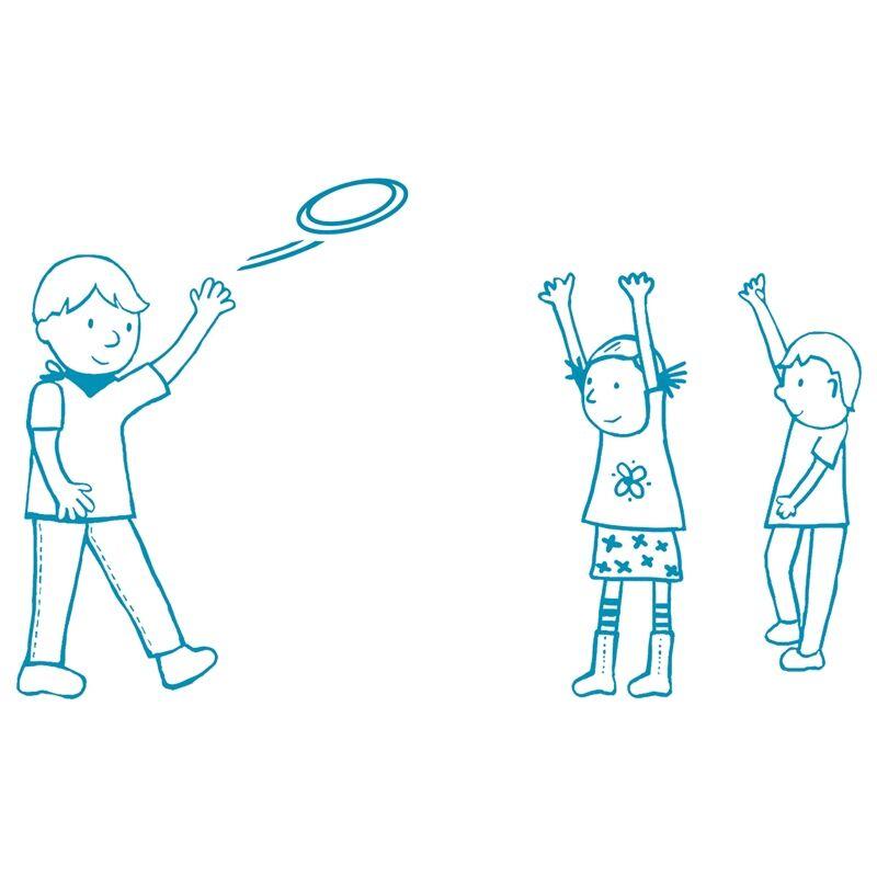 Flying Girl, Djeco rugalmas frizbi, mozgásfejlesztő játék lányoknak 4-8 éves korig