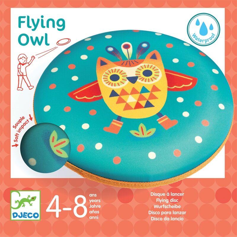 Flying Owl, Djeco rugalmas frizbi, mozgásfejlesztő játék
