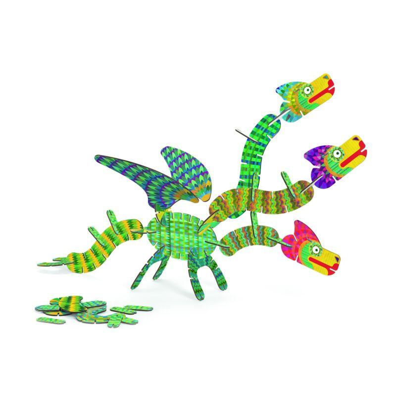 Építőjáték - Volubo sárkány - Dragon, Djeco építőjáték 4-8 éves korig