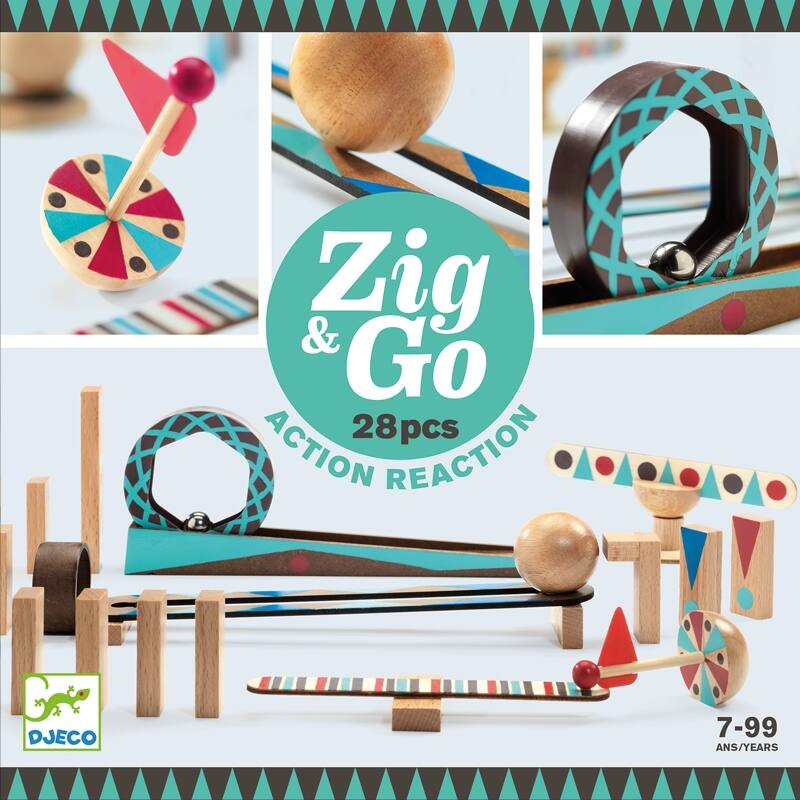 Építőjáték - Sokasodó - 28 db - Zig &Go, Djeco fejlesztőjáték, 7-99 éves korig
