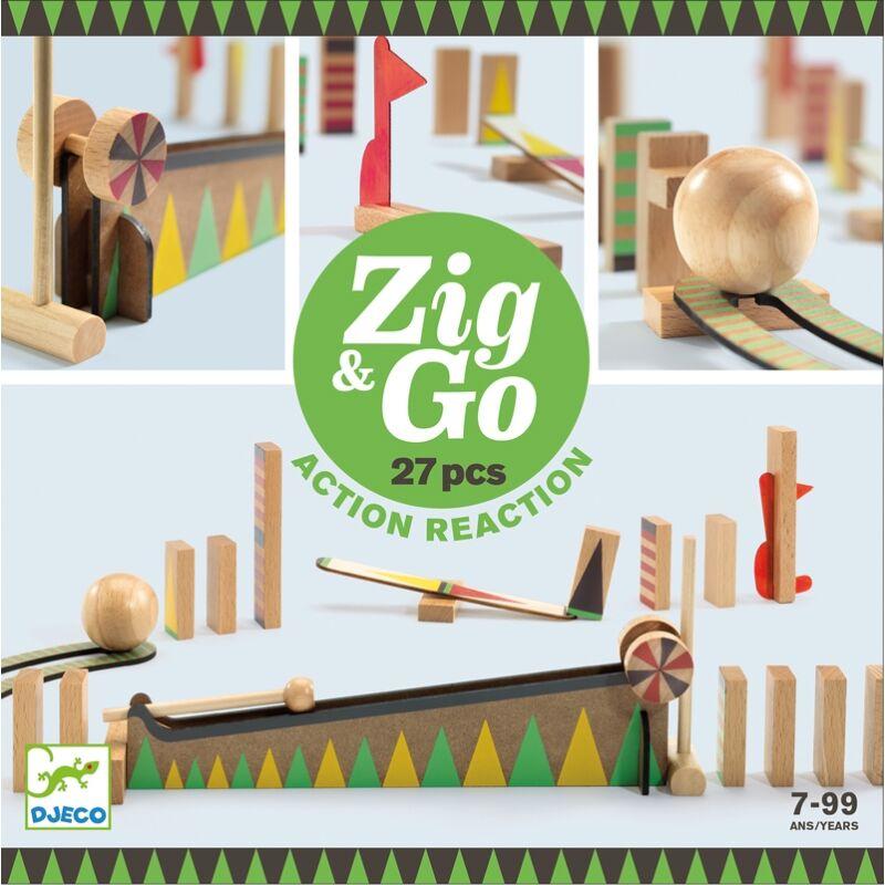 Építőjáték - Sokasodó 27 db - Zig & Go, Építőjáték Djeco, 7-99 éves korig
