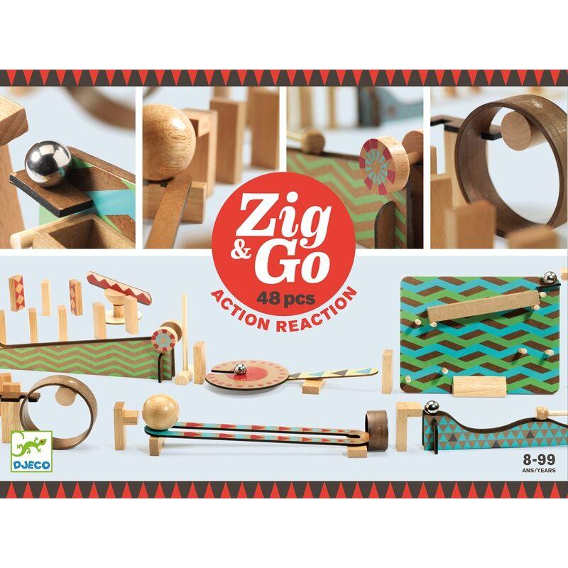 Építőjáték - Sokasodó 48 db - Zig & Go, Építőjáték Djeco, 8-99 éves korig
