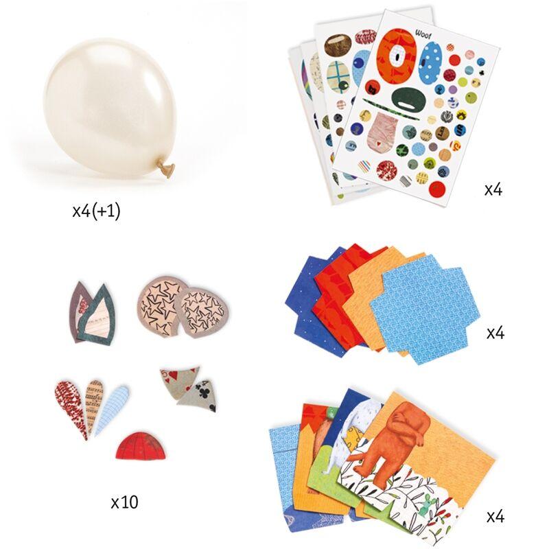 Animal balloons - Állati léggömbök - Djeco kreatív készlet 4 éves kortól