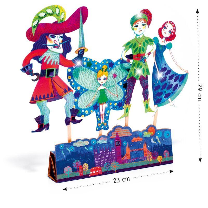 Csináld magad! - Pálcás báb figurák - Peter Pan - Djeco kreatív készlet 5 éves kortól