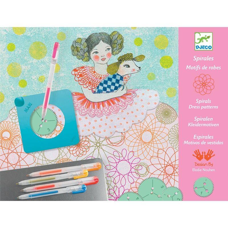 Spirals - Dress patterns - Djeco kreatív készlet 7 éves kortól