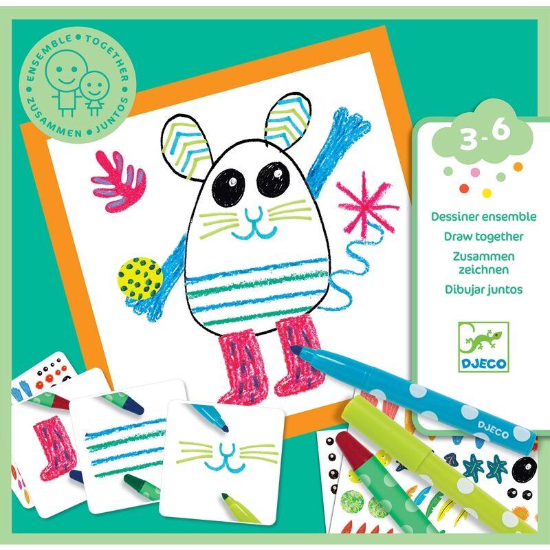 Vicces állatok - Funny animals - Djeco kreatív készlet 3-6 éves korig