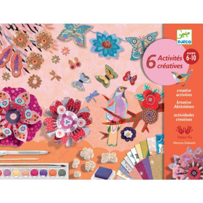 Virágos kert - Flower garden - Djeco kreatív készlet 6-10 éves korig