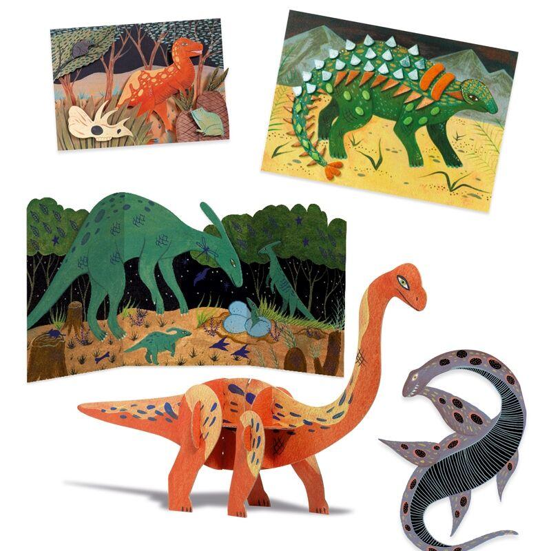 A dinók világa- The world of dinosaurus - Djeco kreatív készlet 6-10 éves korig