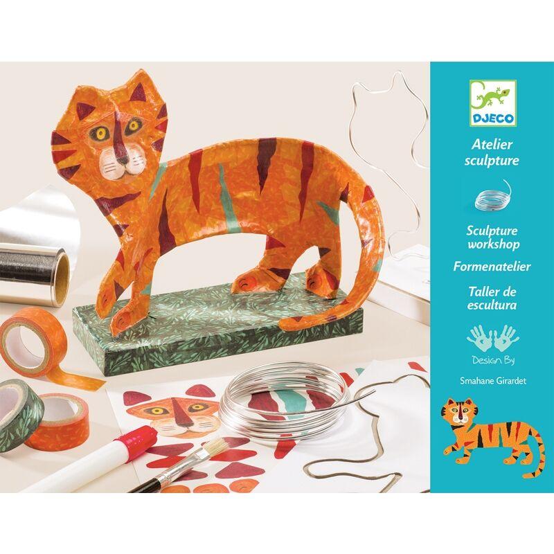 Szoborkészítés - Tigris - Djeco kreatív készlet 8-14 éves korig