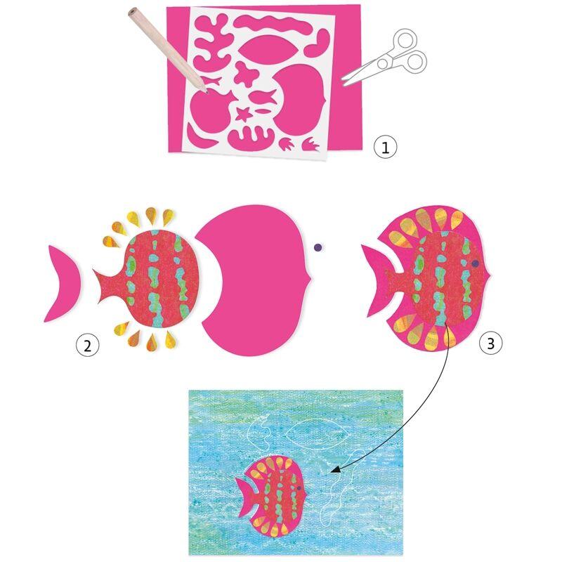 Dekorálj papírral - Djeco kreatív készlet 6 éves kortól