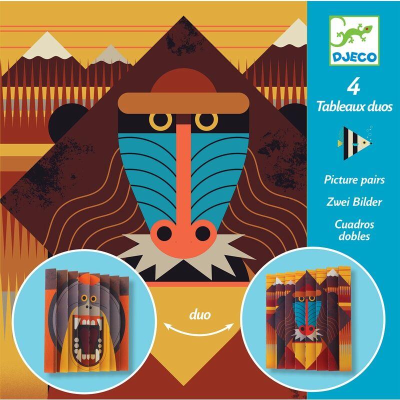 Harmonikakép készítés - Vadállatok - Djeco kreatív készlet 6 éves kortól