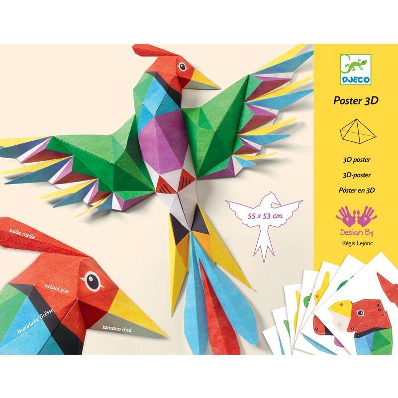 3D poszterkészítés - Amazonie - Djeco kreatív készlet 8-12 éves korig