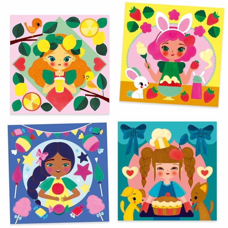 Különleges színező - Édes kis nassolás- Djeco kreatív készlet 6-9 éves korig