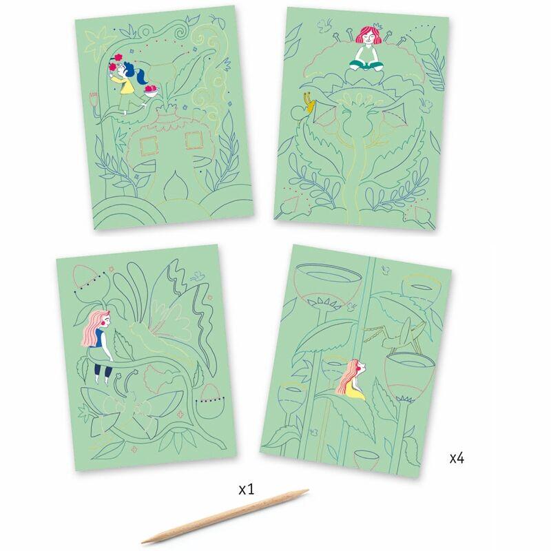 Karckép készítő - A fantázia kertje - Djeco kreatív készlet 6 éves kortól