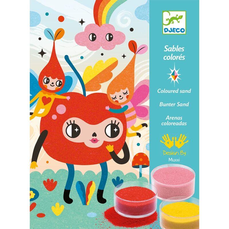 Homokkép készítő - Elő a színekkel - Djeco kreatív készlet 5 éves kortól