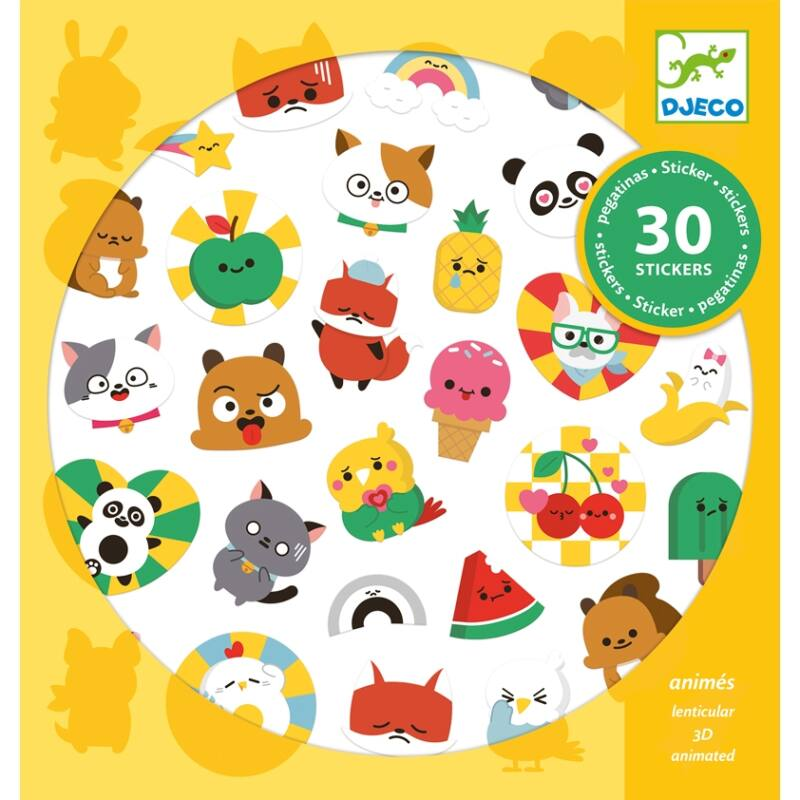 Emoji, Djeco 30 db-os matrica készlet