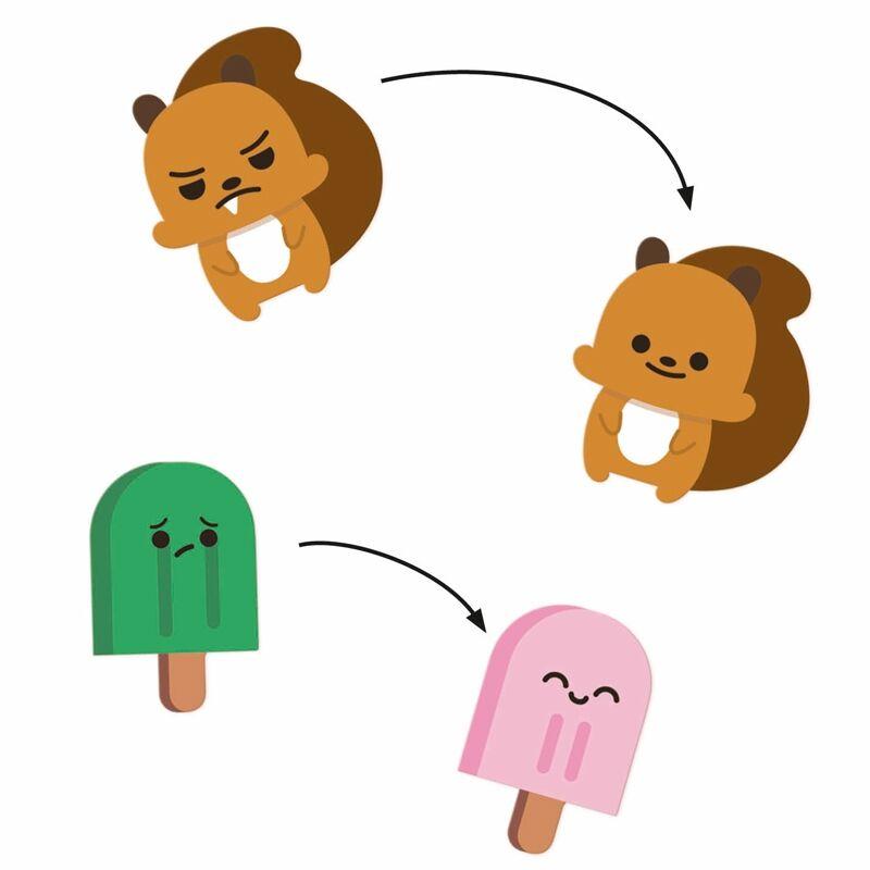 Emoji, Djeco 30 db-os matrica készlet 3 éves kortól