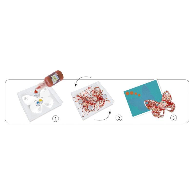 Festés üveggolyókkal - Festő készlet - Djeco kreatív készlet 3-6 éves korig