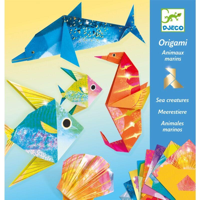 Origami Tengeri lények, Djeco hajtogatós kreatív játék,metál