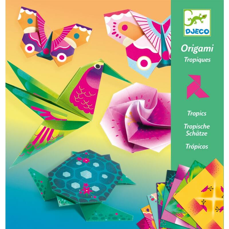 Origami Trópusok, Djeco hajtogatós kreatív készlet