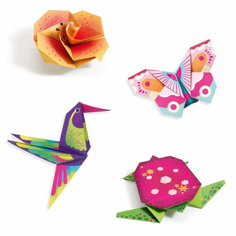Origami Trópusok, Djeco hajtogatós kreatív készlet 7 éves kortól